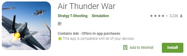 Air Thunder War Mod APK