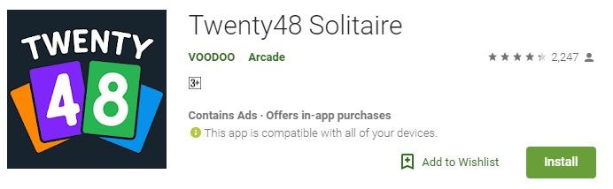 Twenty48 Solitaire Mod APK