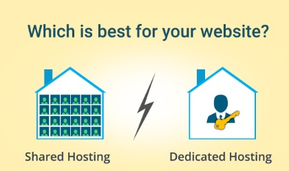 Shared Hosting V/S Dedicated Hosting: Which is best for your website?
