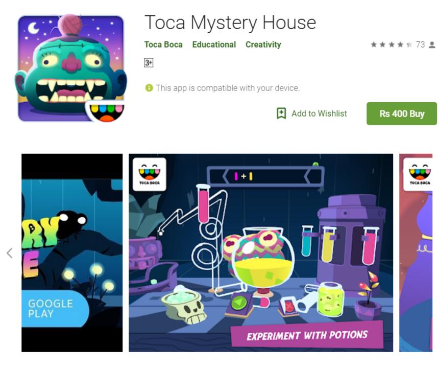 Toca Mystery House Mod Apk