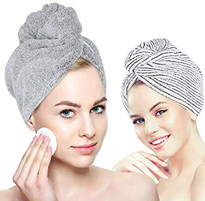 3 Organic Bamboo Hair Towel