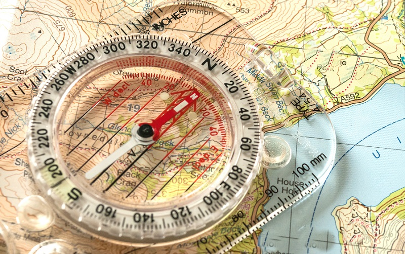Hiking Map/Compass